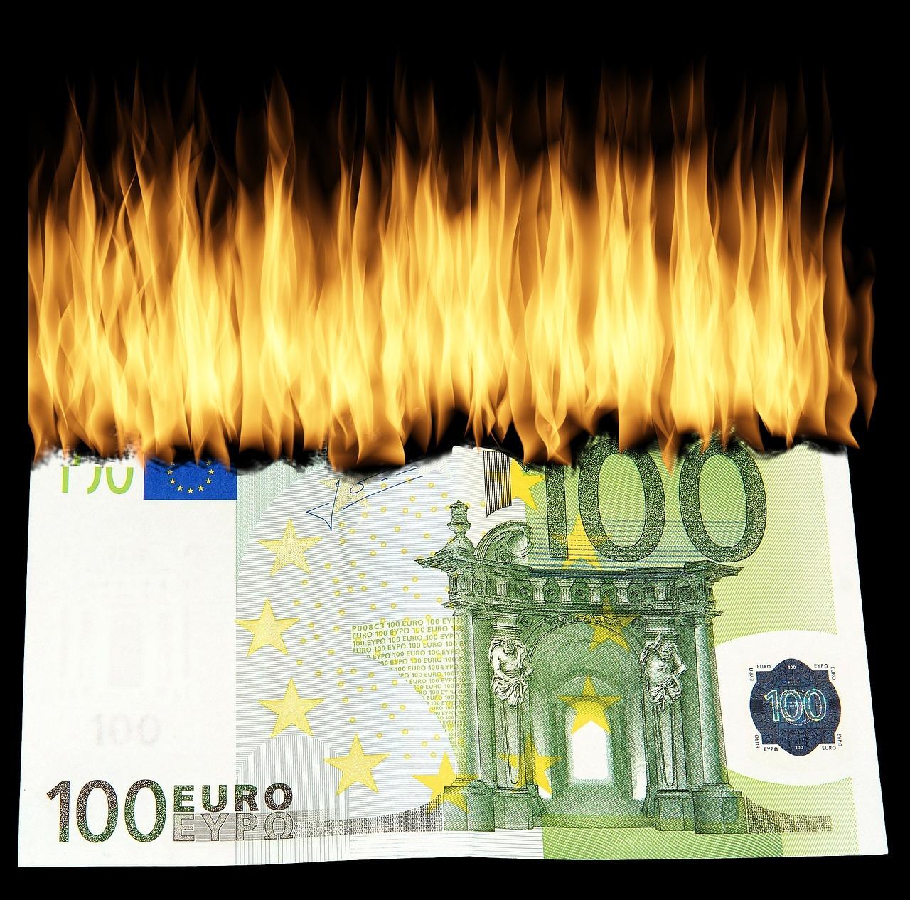 burn money